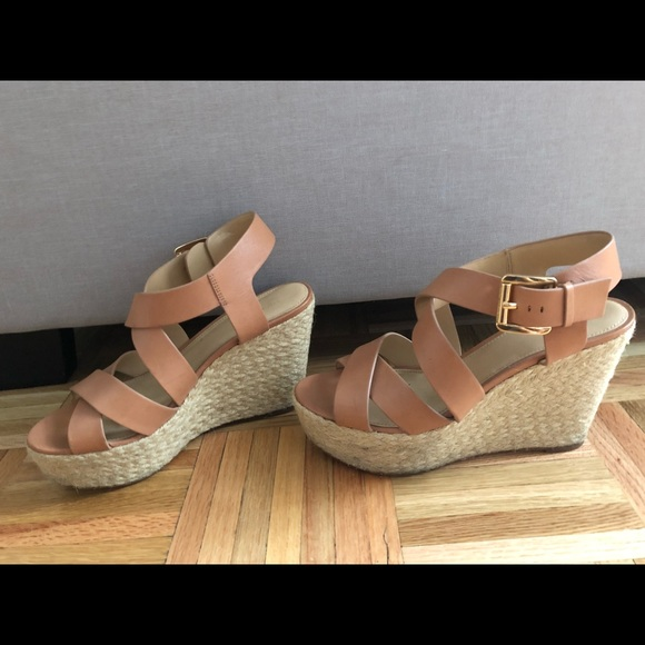 76034888d7d Michael Kors Giovanna Leather Espadrille Wedges